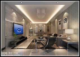 简约风格室内电视墙图片欣赏