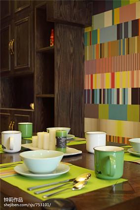 2018130平米混搭复式餐厅装饰图片