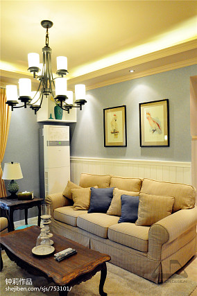 精选106平米3室客厅混搭装修图片