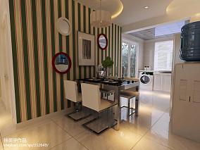 热门98平米三居餐厅现代装修效果图片