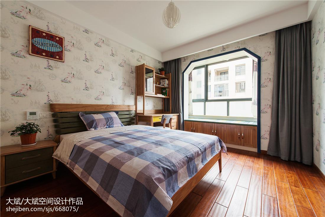 中式风格儿童房飘窗装修效果图