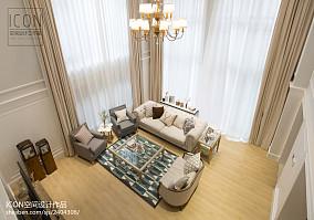 美式风格客厅装修俯视图片
