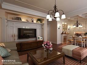 面积99平美式三居客厅装修设计效果图片大全