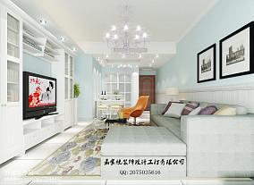 2018精选100平米三居客厅美式装修设计效果图片欣赏