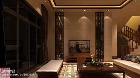 2018大小142平别墅客厅中式装修效果图片大全