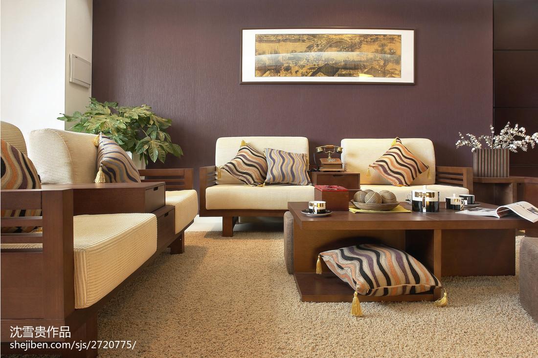 中式客厅装潢效果图