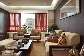 精选面积103平中式三居客厅装修设计效果图片欣赏