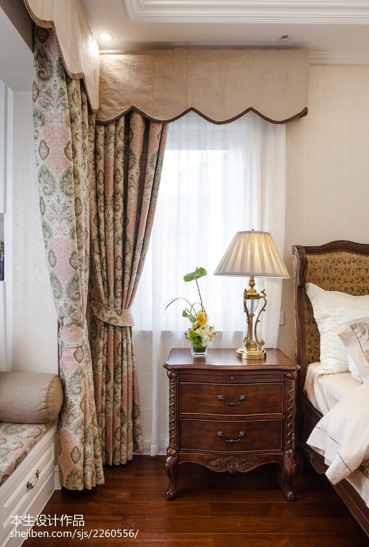 美式卧室窗户装修图片