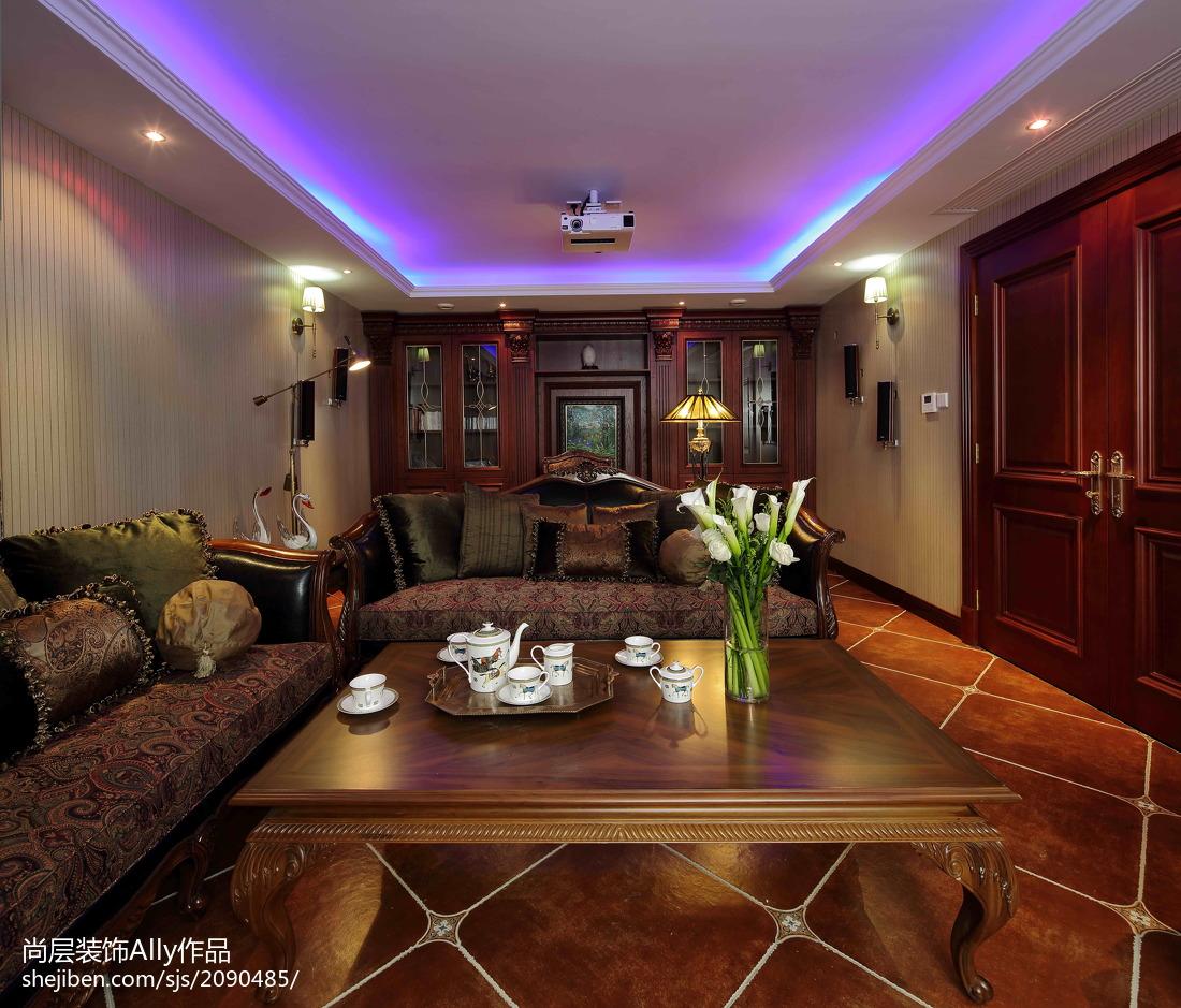 欧式客厅室内地面铺装效果图大全