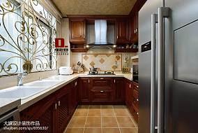 热门124平米新古典复式厨房装修效果图片欣赏