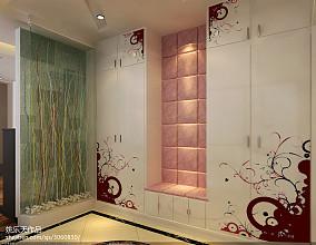 中式风格玄关屏风隔断设计图片