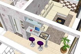欧式风格餐厅吊顶效果图