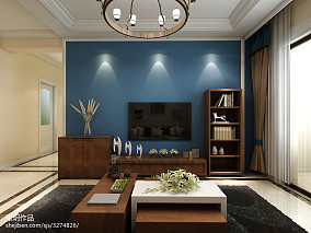 2018精选混搭3室客厅设计效果图105平