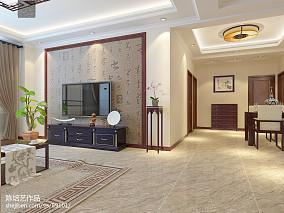 2018精选面积107平中式三居客厅装修欣赏图片