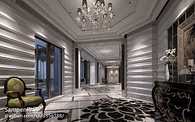 精美120平米新古典别墅过道实景图片