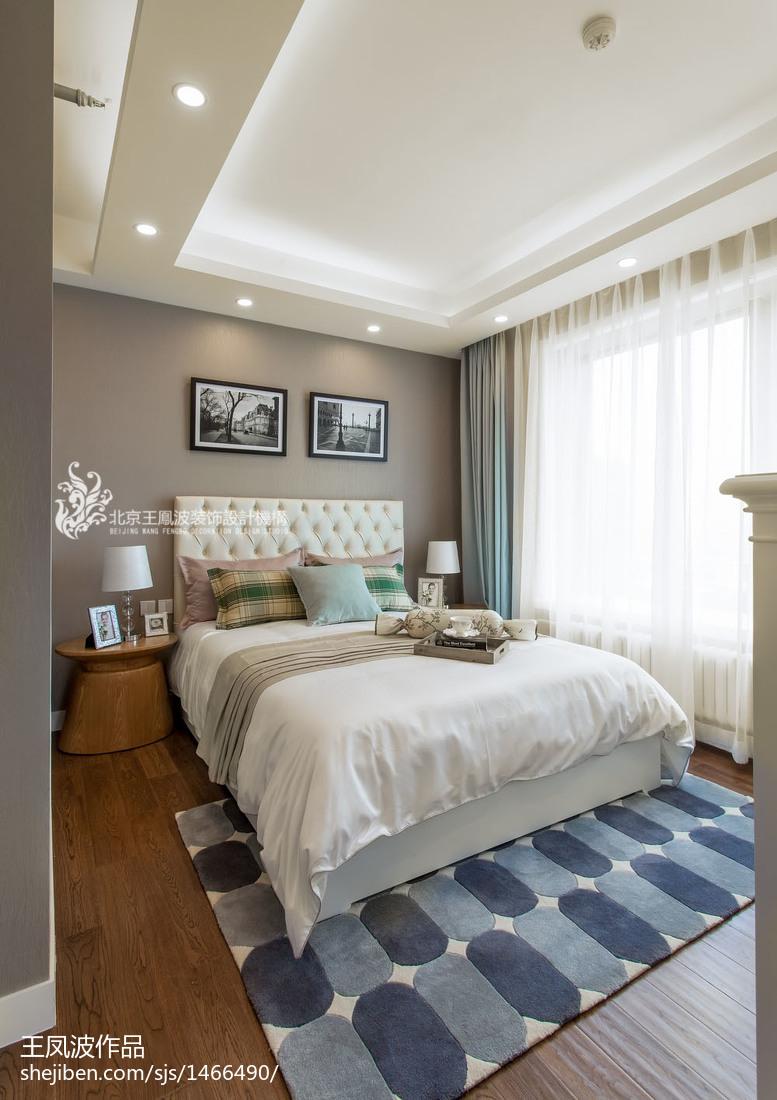 清新现代派卧室装修效果图欣赏