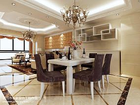面积95平欧式三居餐厅实景图片