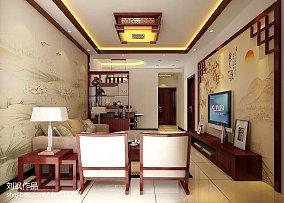 精美面积75平中式二居装修实景图片欣赏
