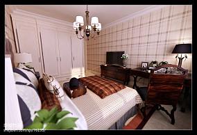 面积133平复式卧室美式装修欣赏图片大全