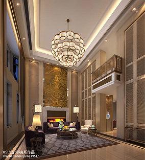 热门136平米现代别墅客厅实景图片