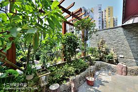 2018精选143平米美式复式花园装修效果图片欣赏