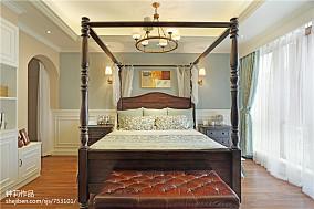 精美面积122平别墅卧室美式欣赏图