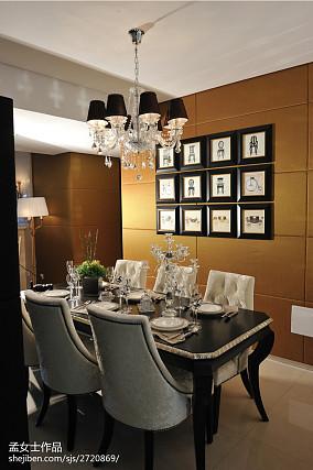 精选120平米新古典别墅餐厅装饰图片