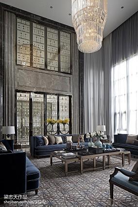 别墅混搭风格客厅装修样板间设计