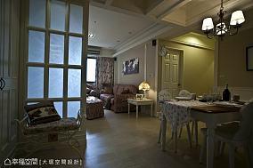 中式田园风格客厅实木柜效果图