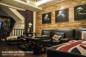 精选113平米现代复式客厅装饰图