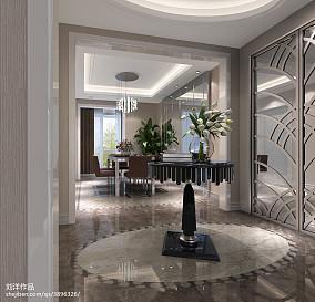 热门98平米三居玄关现代装修实景图片欣赏