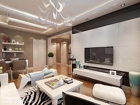 精选面积85平小户型客厅现代装修效果图片欣赏