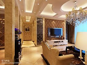 热门面积123平复式客厅欧式装修图