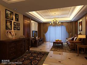 精选面积100平美式三居客厅装饰图片