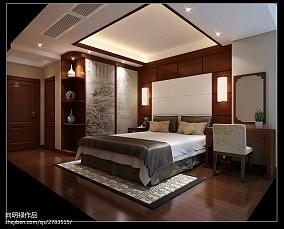 2018精选100平米三居卧室中式设计效果图
