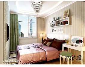 现代简约客厅地板砖效果图