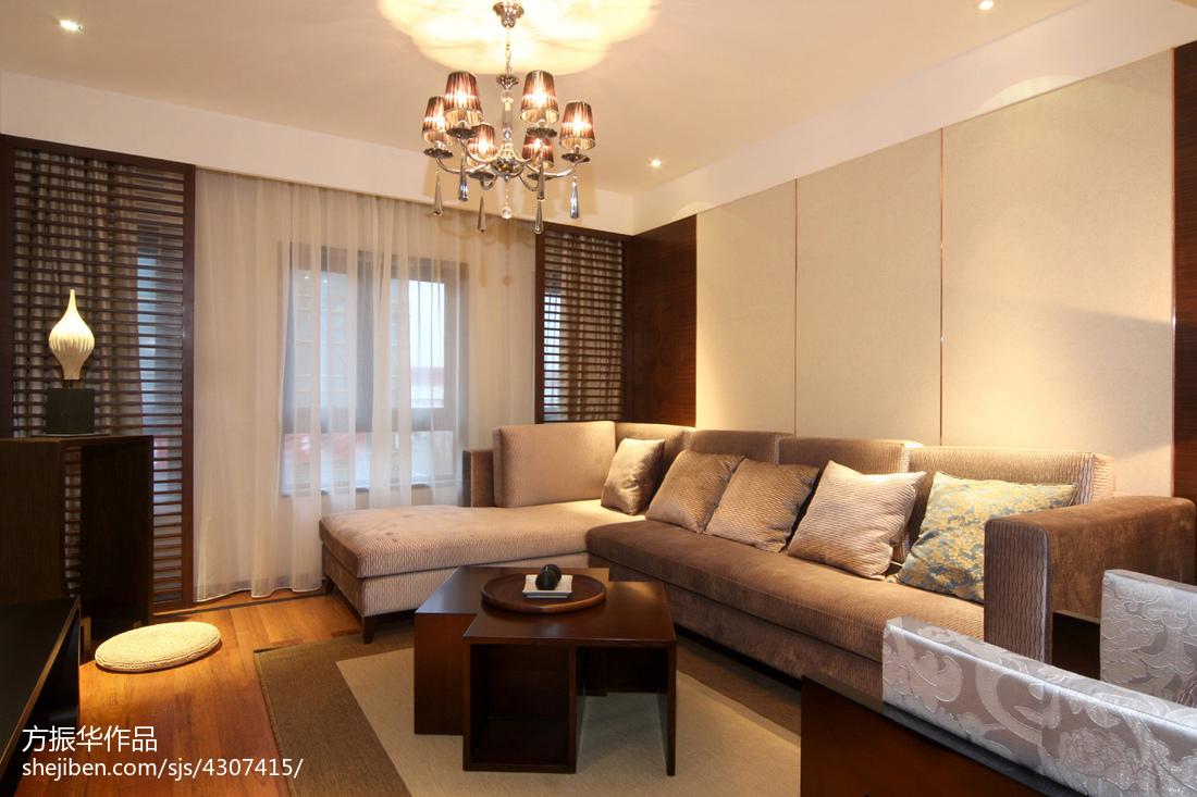现代中式客厅窗户设计