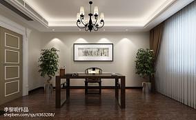 精美123平米混搭别墅书房装修设计效果图片大全