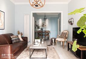 优雅36平欧式小户型客厅案例图