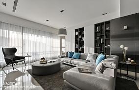 2018大小95平现代三居客厅装修实景图
