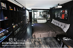 2018精选面积112平复式卧室混搭装修设计效果图片欣赏