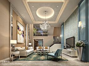 田园风格客厅瓷砖设计案例
