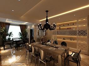 美式格调清新餐厅设计效果图