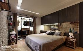 2018精选面积86平混搭二居卧室装修设计效果图片欣赏