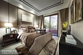 中式风格卧室精装修效果图欣赏
