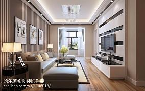 2018大小87平现代二居客厅设计效果图