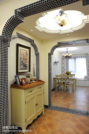 精选面积108平地中海三居餐厅设计效果图