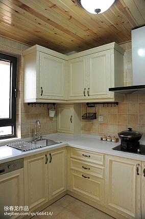 精美106平米三居厨房地中海装饰图片欣赏