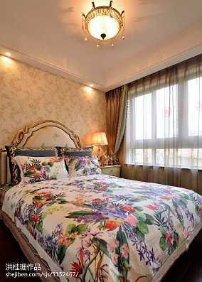 欧式卧室窗帘效果图大全欣赏