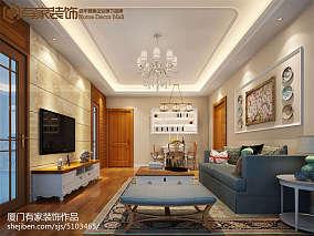 面积83平美式二居装修效果图片